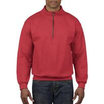 HEAVY BLEND™ ADULT VINTAGE CADET COLLAR SWEATSHIRT, piros