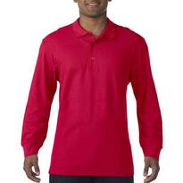 PREMIUM COTTON® ADULT LONG SLEEVE DOUBLE PIQUÉ POLO, piros