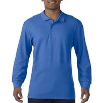 PREMIUM COTTON® ADULT LONG SLEEVE DOUBLE PIQUÉ POLO, kék
