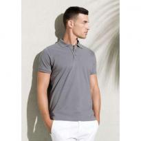 MEN'S ORGANIC PIQUÉ SHORT-SLEEVED POLO SHIRT, zöld