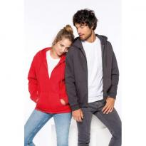 FULL ZIP HOODED SWEATSHIRT, fekete