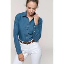 LADIES' DENIM SHIRT, kék