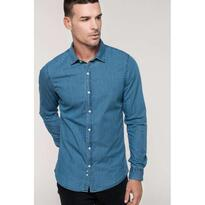 MEN'S DENIM SHIRT, kék