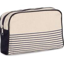 VANITY CASE IN COTTON CANVAS - DUFFEL STYLE, barna