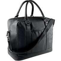 COATED COTTON TRAVEL BAG, fekete