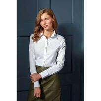 WOMEN'S STRETCH-FIT COTTON POPLIN LONG SLEEVE SHIRT, szürke