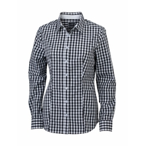 J&N Ladies' Checked Blouse, fekete M