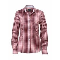 J&N Ladies' Checked Blouse, piros L