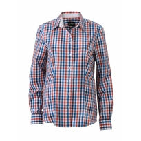 J&N Ladies' Checked Blouse, narancssárga XS