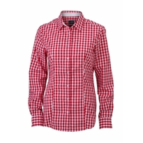 J&N Ladies' Checked Blouse, piros XS