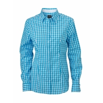 J&N Ladies' Checked Blouse, kék M
