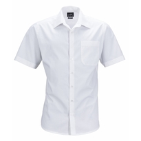 J&N Men's Business Shirt Shortsleeve, fehér XL