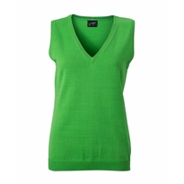 J&N Ladies' V-Neck Pullunder, zöld XS
