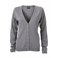 J&N Ladies' V-Neck Cardigan, szürke XL