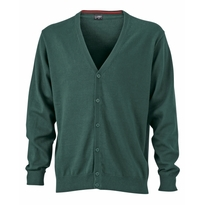J&N Men's V-Neck Cardigan, zöld S