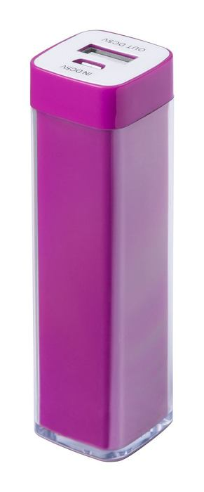 Sirouk USB power bank, pink