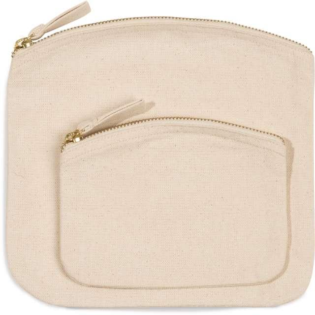 POUCH WITH ZIP FASTENING, barna