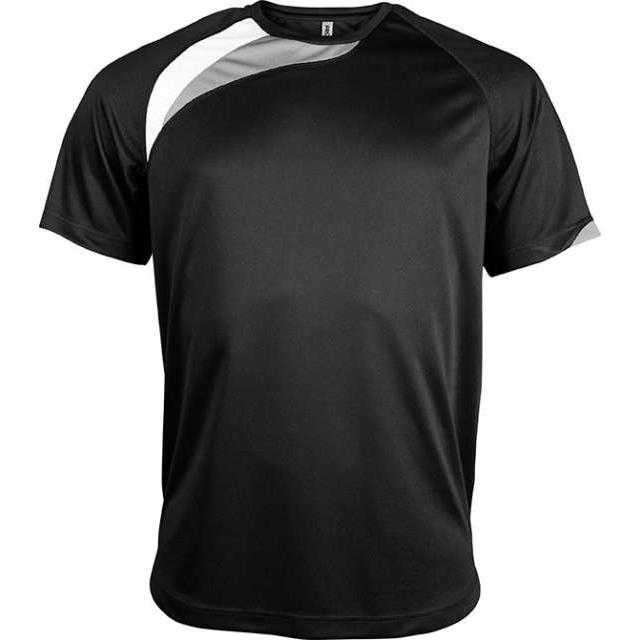 UNISEX SHORT-SLEEVED SPORTS T-SHIRT, fekete