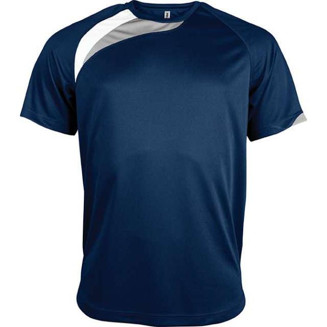 UNISEX SHORT-SLEEVED SPORTS T-SHIRT, kék