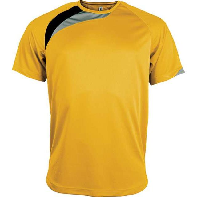 UNISEX SHORT-SLEEVED SPORTS T-SHIRT, sárga