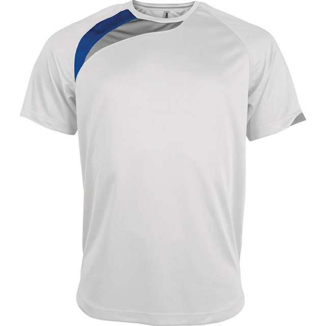 UNISEX SHORT-SLEEVED SPORTS T-SHIRT, fehér