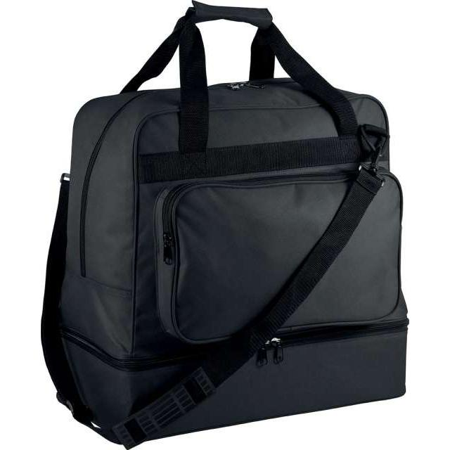 TEAM SPORTS BAG WITH RIGID BOTTOM - 60 LITRES, fekete