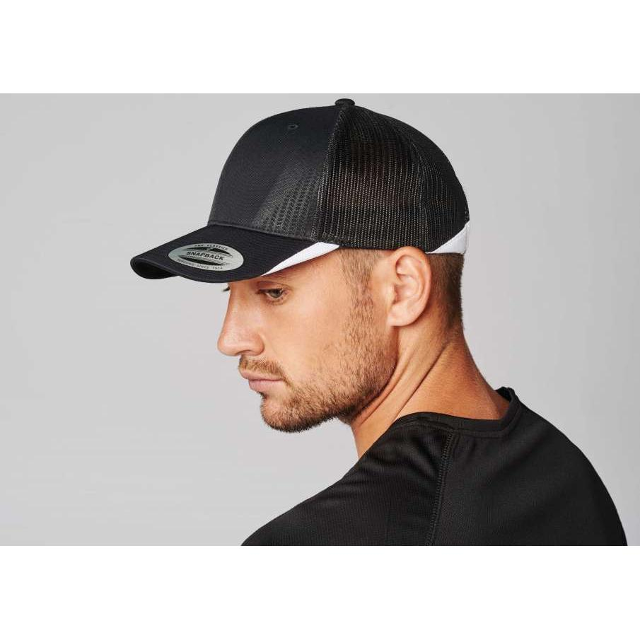SPORTS CAP WITH MESH - 6 PANELS, fekete