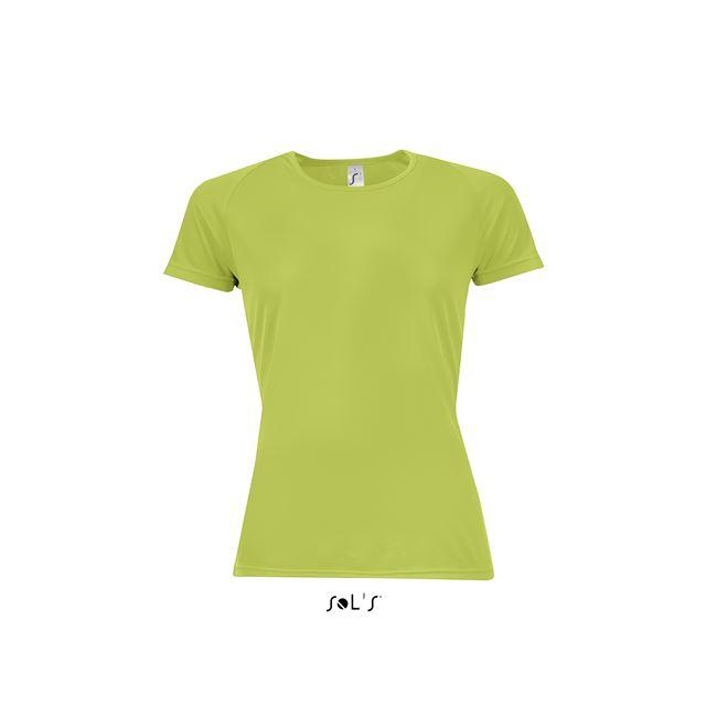 SPORTY WOMEN - RAGLAN-SLEEVED T-SHIRT, zöld