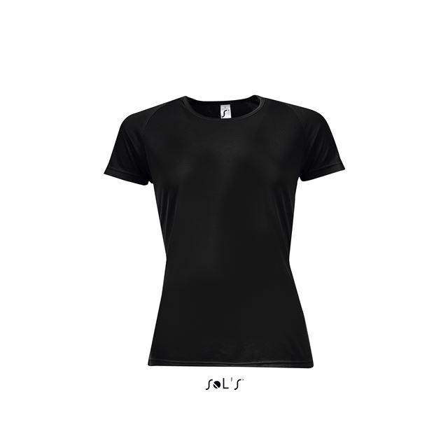 SPORTY WOMEN - RAGLAN-SLEEVED T-SHIRT, fekete