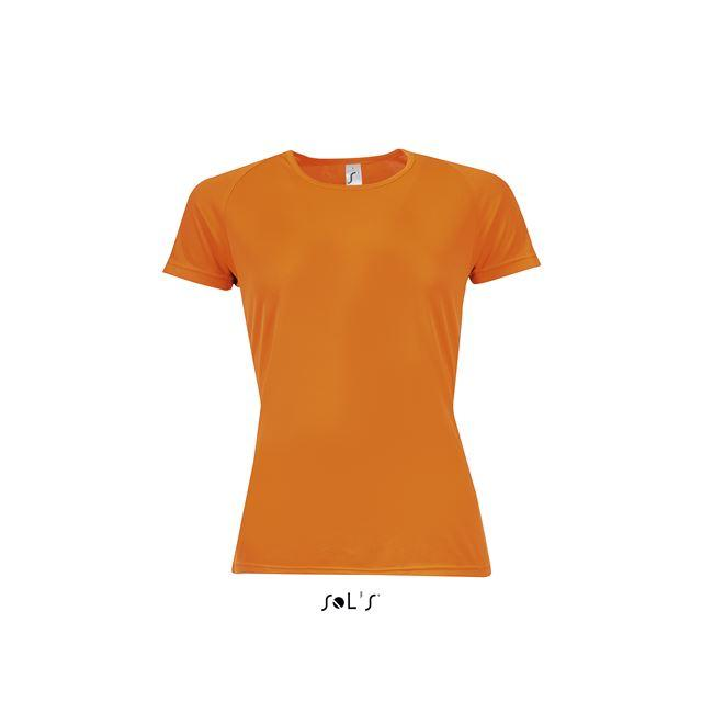 SPORTY WOMEN - RAGLAN-SLEEVED T-SHIRT, narancssárga