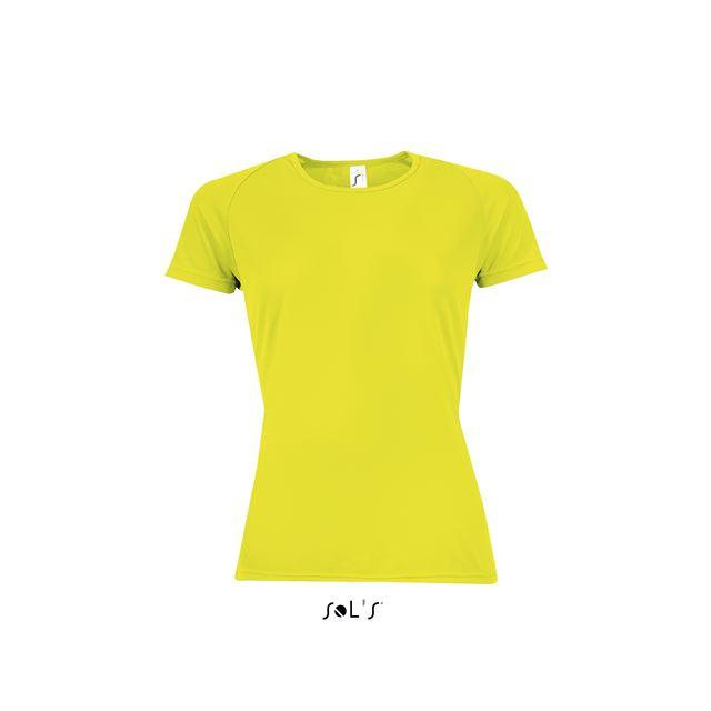 SPORTY WOMEN - RAGLAN-SLEEVED T-SHIRT, sárga