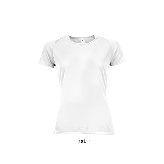 SPORTY WOMEN - RAGLAN-SLEEVED T-SHIRT, fehér