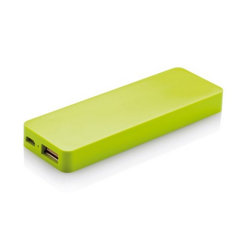 2500 mAh powerbank, zöld